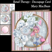 Retail Therapy - Decoupage Card