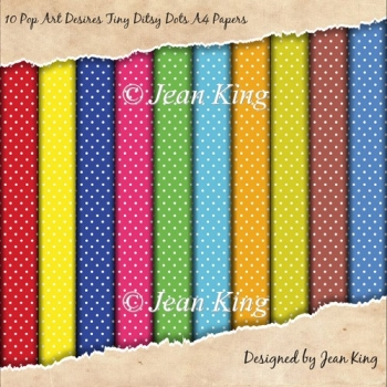 10 Pop Art Desires Tiny Ditsy Dots A4 Papers