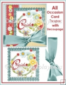 Cherish These Moments All Occasion Card Topper with Decoupage