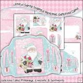 Joyful Santa Shaped Reverse Gatefold & Envelope