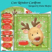 Cute Reindeer Cardfront with Decoupage