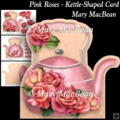 Pink Roses - Kettle-Shaped Card
