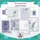 Six French Lavender Seed Packet Envelopes