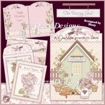A Garden grows with love Card Kit with 2 freebie Seed Packets