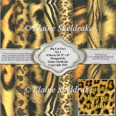 "Big Cat Faux Furs Set 1 - Eight 8"" x 8"" Backing Papers"