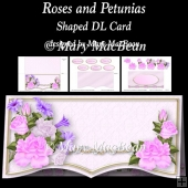 Roses and Petunias - Shaped DL Card