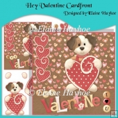 Hey Valentine Cardfront with Decoupage