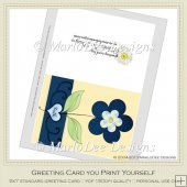 Blue Flower Faith Christian Printable Greeting Card