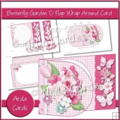 Butterfly Garden D Flap Wrap Around Card
