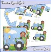 Tractor Easel Card