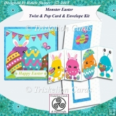Monster Easter Twist & Pop Card & Envelope Kit