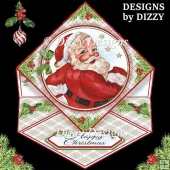 Jolly Santa Diamond Easel Card with freebie Gift Tags