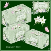 Lilies For You Set of 3 Gift Boxes