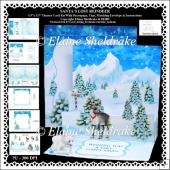 Santas Lost Reindeer 5.5 x 5.5 3D PopUp Theater Easel Card Kit