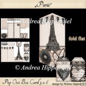 Pop Out Box Card Paris