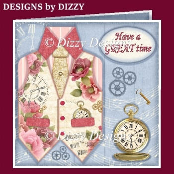 Floral Time Waistcoat Card