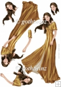 Lady Guinevere Decoupage Sheet (Gold)