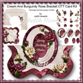 Cream And Burgundy Rose Bracket OTT Card Kit