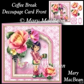 Coffee Break - Decoupage Card Front