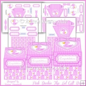 Pink Duckie Flip Lid Gift Boxes