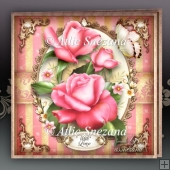 Spring Summer Pink Roses Card Mini Kit
