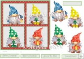 Christmas family gnomes 7x7
