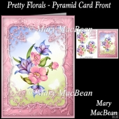 Pretty Florals - Pyramid Card Front
