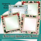 Four 8x8 Blank Christmas Card Fronts