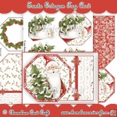 Santa Octagon Tag Card