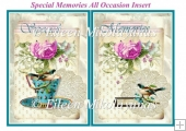 Special Memories All Occasion Insert / Topper