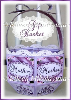 Elegant Mother's Day Gift Favor Basket with Crafting Directions