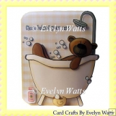 Clean Behind Your Ears Teddy Shaped Fold Card Kit