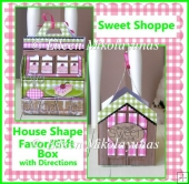 Sweet Shoppe House Shaped Gift Favor Box with Directions
