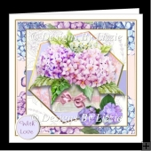 A Lovely Vase of Hydrangeas Mini Kit With Decoupage