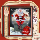 Santa On The Chimney 7.8 Christmas Decoupage Kit
