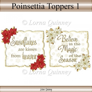 Poinsettia Toppers 1