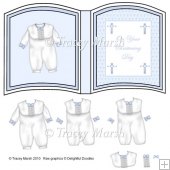 Boy Christening Open Book Page