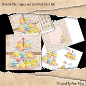 Shabby Chic Cupcakes 8x8 Mini Card Kit