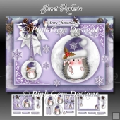 Hedgy With Candy Cane A5 Lilac Mini Kit