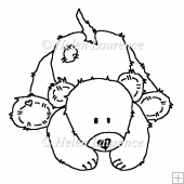 Roger the Bear JPEG Line Art Digital Stamp