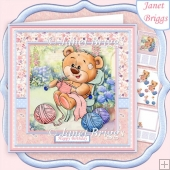 KNITTING BEAR 7.5 Decoupage & Insert Mini Kit