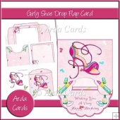Girly Shoe Drop Flap Card