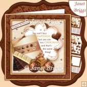 YOU CAN BUY CHOCOLATE Humorous 7.5 Decoupage & Insert Kit