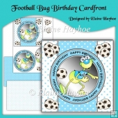 Football Bug Birthday Cardfront