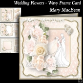 Wedding Flowers - Wavy Frame Card