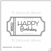 Happy Birthday Plain Style Digital Stamp/Sentiment