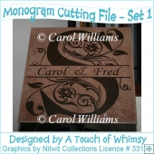 Monogram Cutting Files - Set 1