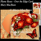 Flame Roses - Over the Edge Card and Envelope