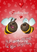 Bee Together Valentines Day A4