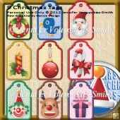 9 Tags On One Sheet-Christmas Images - Set 3